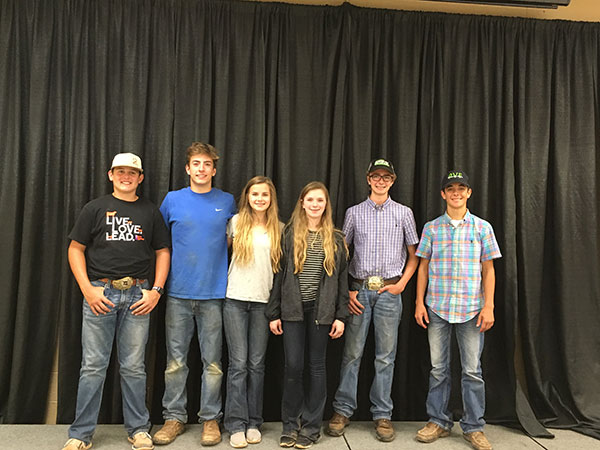 From left to right: Alisa Friesen, Arnett; Victoria Gerken, Cashion; Sydnee Gerken, Cashion; Raylyn Thompson, Adair; Jackson Ray, Holdenville; Jaryn Frey, Kingfisher; Sydney Johnson, Orlando; Kolby Shepard, Perkins; Ryan Callahan, Edmond; Teegan Shepard, Perkins; Harrison Holder, Olustee; and Madelyn Gerken, Cashion.
